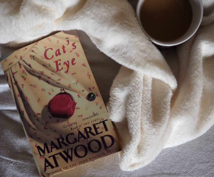 Cat's Eye book and a cup of tea