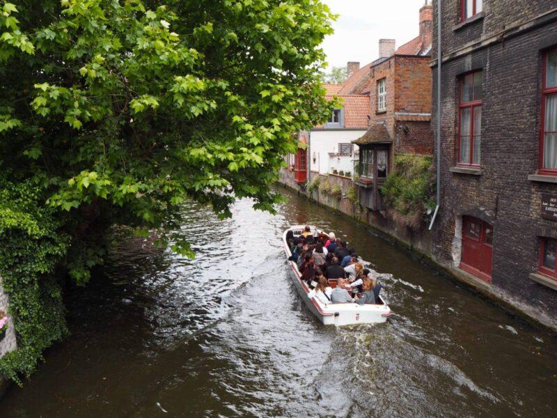 Boat trip in Bruges on a weekend in Belgium