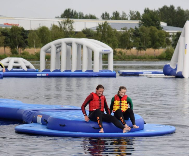 Trying out the Milton Keynes Aqua Parc on Willen Lake