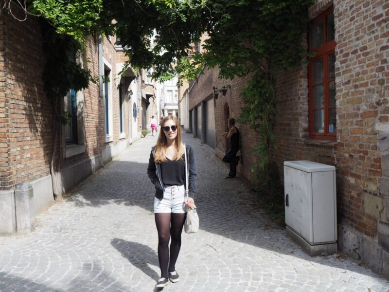 Exploring the streets of Bruges