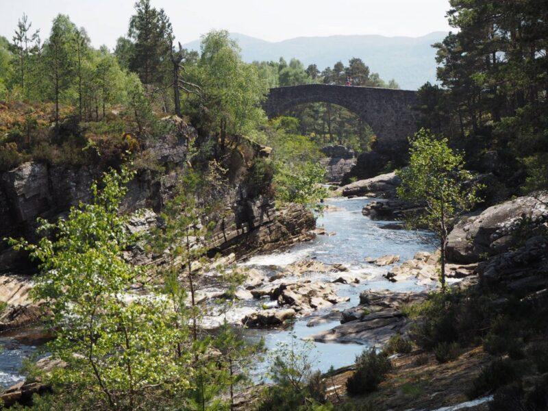 Stone bridge on the Little Garve Circular Walk in Scotland