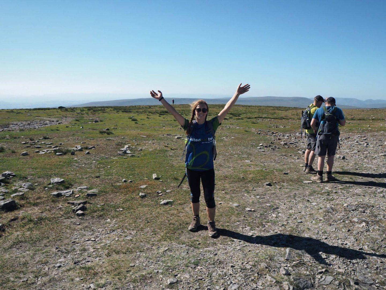 Reaching the top of Ingleborough