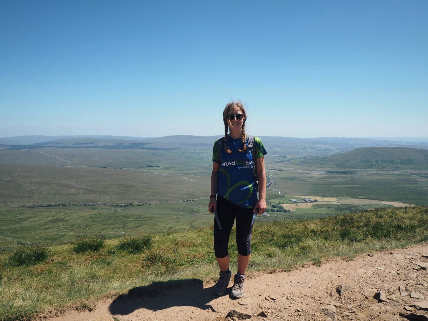 Standing at the top of Whernside in Yorkshire
