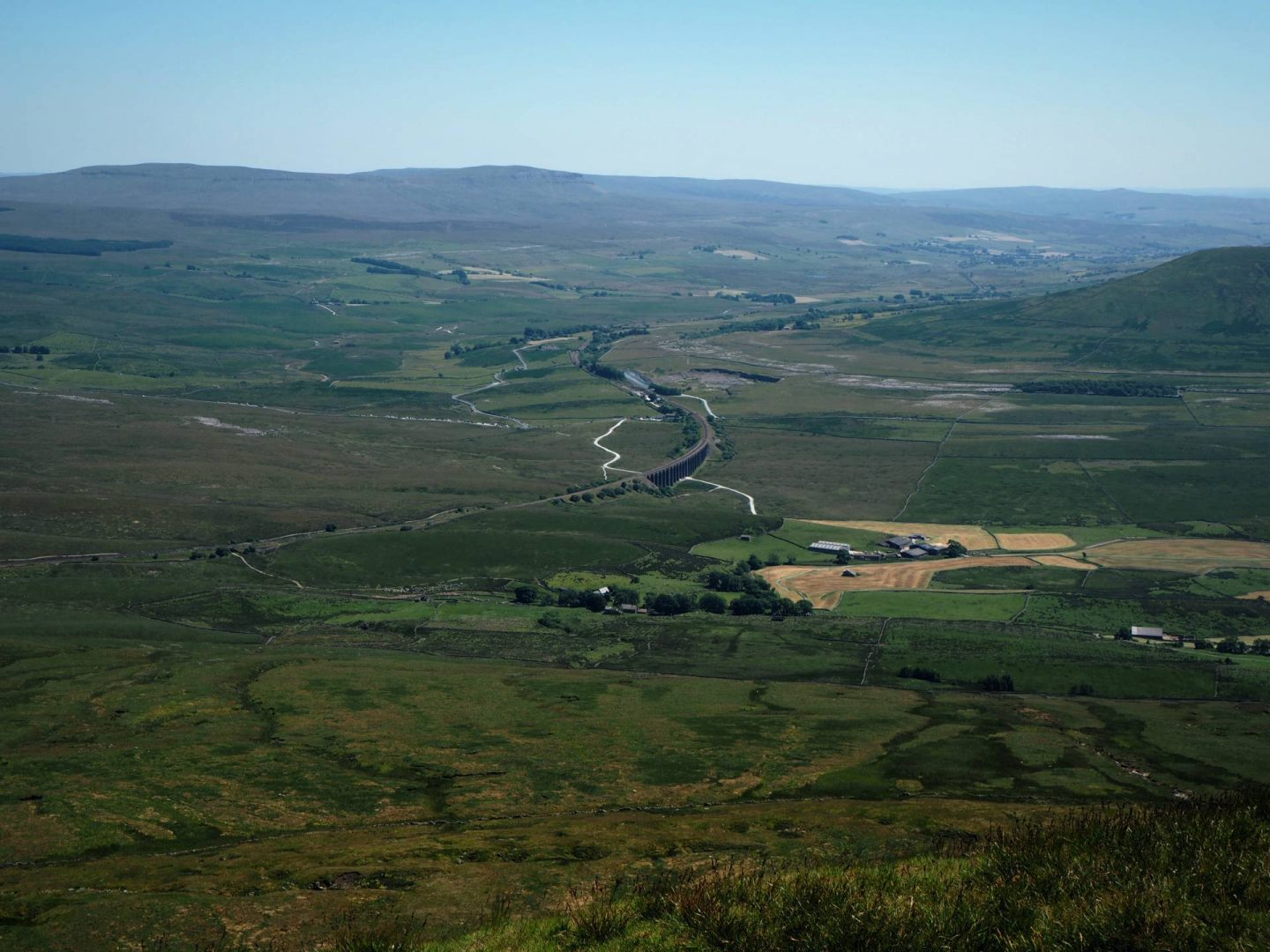 View from Whernside in the Yorkshire Dales