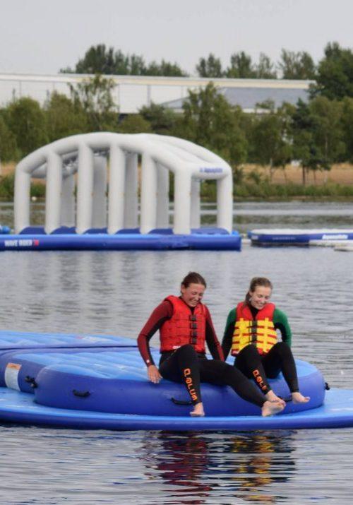 Trying out the Milton Keynes Aqua Parc on Willen Lake
