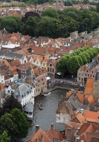 The View from the top of the Belfry of Bruges